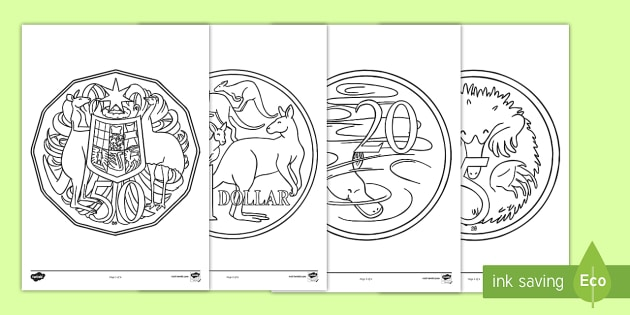 Superhero Colouring Sheets Twinkl Australian Coins Pages Currency Money