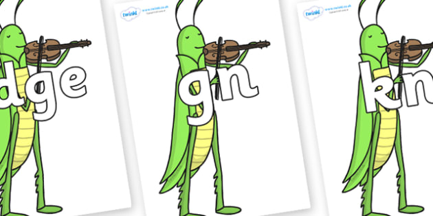 Silent Letters on Grasshopper - Silent Letters, silent letter, letter blend, consonant, consonants, digraph, trigraph, A-Z letters, literacy, alphabet, letters, alternative sounds