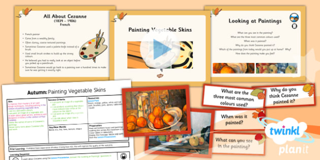 Art: Autumn: Painting Vegetable Skins LKS2 Lesson Pack 6