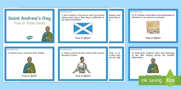 Saint Andrew's Day True or False Question Cards-Scottish