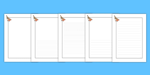 Robin Themed Writing Frames - robin, themed, writing frame, writing, frame