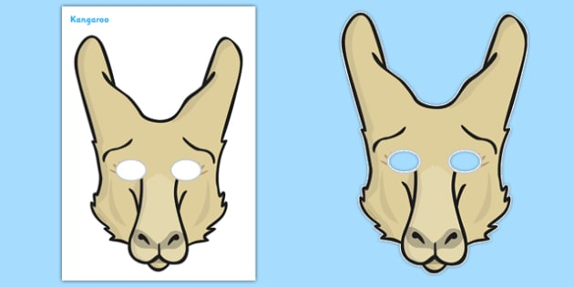 Kangaroo Role Play Masks