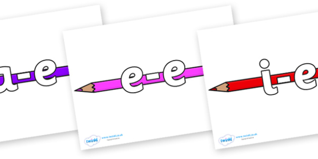 Modifying E Letters on Pencil Crayon - Modifying E, letters, modify, Phase 5, Phase five, alternative spellings for phonemes, DfES letters and Sounds