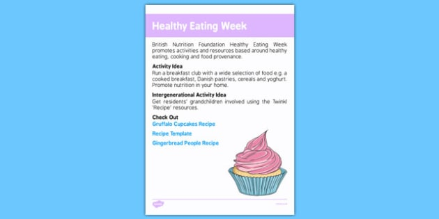 Elderly Care Calendar Planning June 2016 Healthy Eating Week - Elderly Care, Calendar Planning, Care Homes, Activity Co-ordinators, Support, June 2016