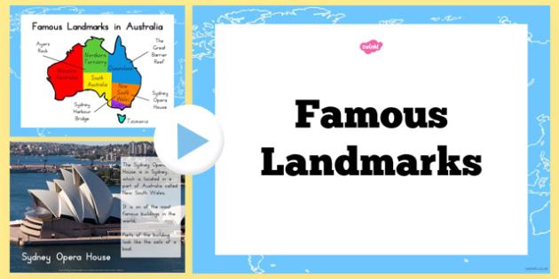 Famous Landmarks Information PowerPoint - australia, landmarks