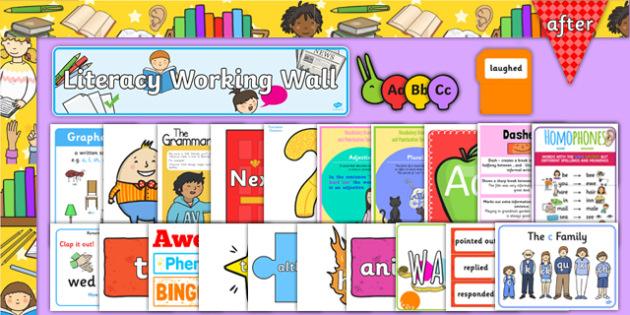 KS1 Literacy Working Wall Display Pack