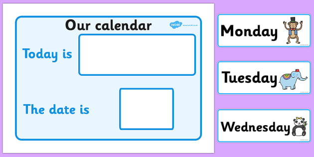 Our Calendar Animal Themed - calendar, classroom calendar, months of the year, weather chart, display, banner, sign, poster, animal, animals
