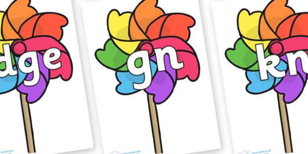 Silent Letters on Beach Windmills - Silent Letters, silent letter, letter blend, consonant, consonants, digraph, trigraph, A-Z letters, literacy, alphabet, letters, alternative sounds