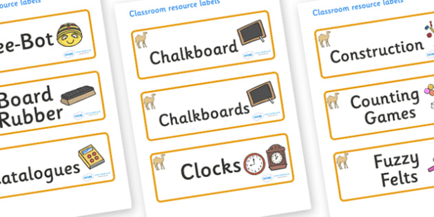 Camel Themed Editable Additional Classroom Resource Labels - Themed Label template, Resource Label, Name Labels, Editable Labels, Drawer Labels, KS1 Labels, Foundation Labels, Foundation Stage Labels, Teaching Labels, Resource Labels, Tray Labels, Pr