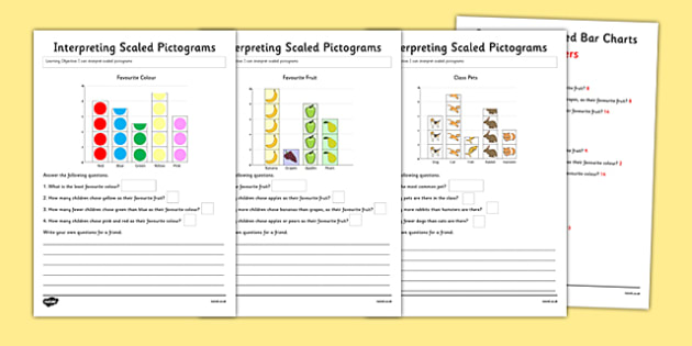 Interpreting Pictograms Activity Sheet Pack - interpreting, pictograms, activity, sheets, worksheet