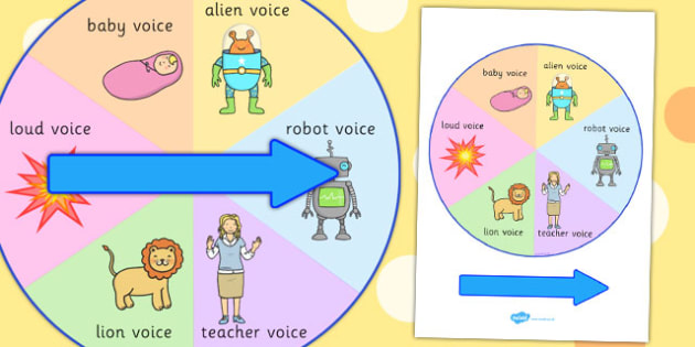 Silly Voices Spinner - activity, activities, games, voice, fun