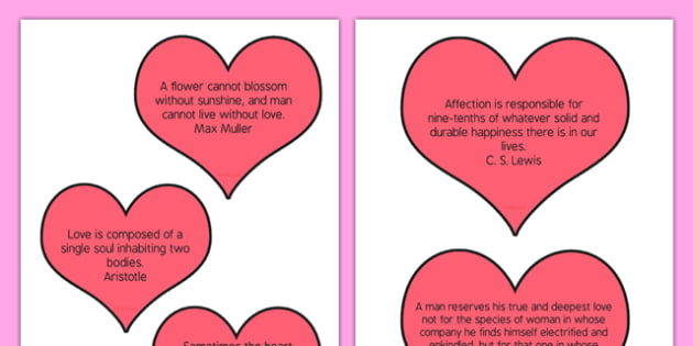 Adult Education Valentine's Day Quotes - Elderly, Reminiscence, Care Homes, Valentine's Day