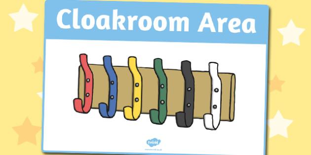 Cloakroom Area Sign - area, sign, area sign, cloakroom, room