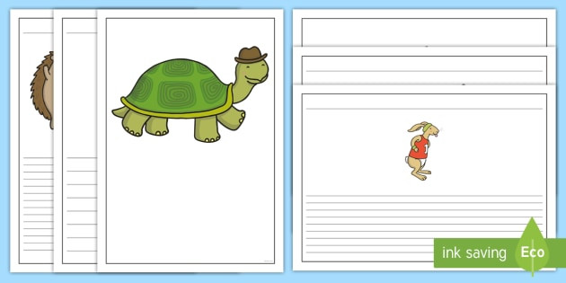 The Tortoise and The Hare Writing Frames - writing template