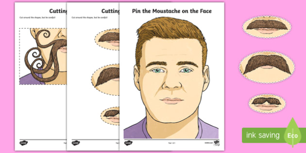 Movember: Pin the Moustache on the Face Game