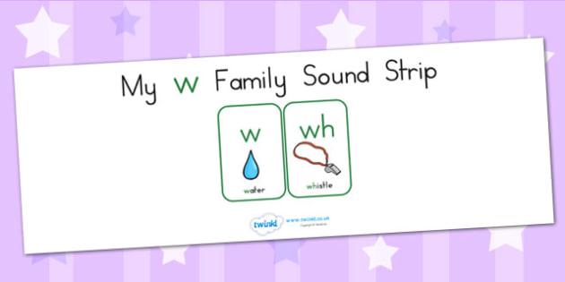 My W Family Sound Strip - sound family, visual aid, literacy