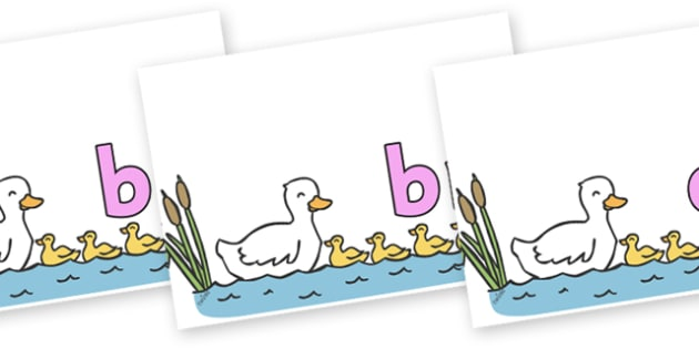 Initial Letter Blends on Five Little Ducks - Initial Letters, initial letter, letter blend, letter blends, consonant, consonants, digraph, trigraph, literacy, alphabet, letters, foundation stage literacy
