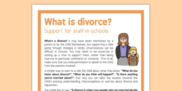 What is Divorce Support for Staff in Schools - divorce, support, staff, schools