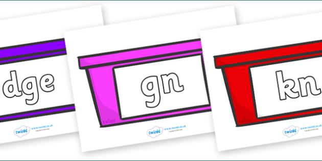 Silent Letters on Trays - Silent Letters, silent letter, letter blend, consonant, consonants, digraph, trigraph, A-Z letters, literacy, alphabet, letters, alternative sounds