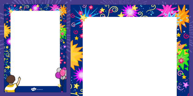 New Year Decorative Page Border - 2015, new year, border