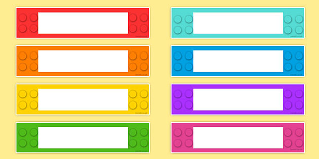 Building Brick Themed Gratnells Tray Labels - label, name tags