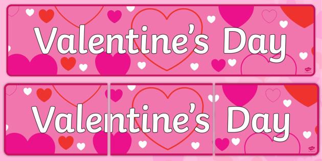 Valentine's Day Display Banner - Valentine's Day, Valentine, love, Saint Valentine, heart, kiss, display, banner, sign, poster, cupid, gift, roses, card, flowers, date, letter, girlfriend, boyfriend, partner