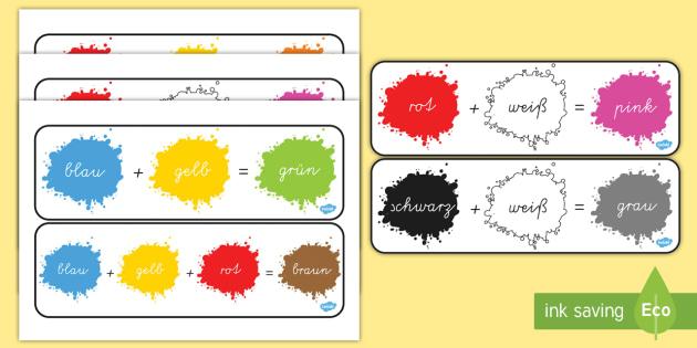 Colour Mixing Pack German - german, colour, mixing, pack, mix, colours