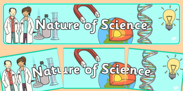 Nature of Science Display Banner NZ - nz, new zealand, nature, science, banner, display