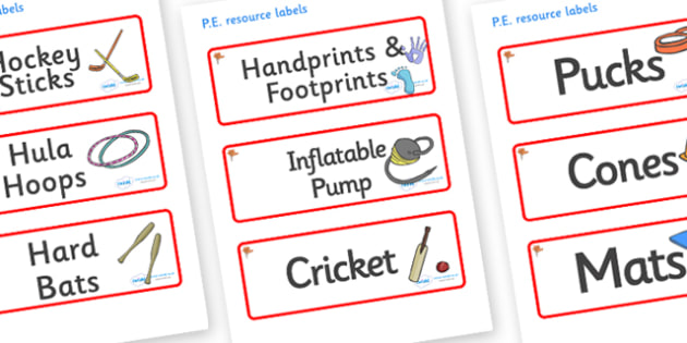 Ginko Tree Themed Editable PE Resource Labels - Themed PE label, PE equipment, PE, physical education, PE cupboard, PE, physical development, quoits, cones, bats, balls, Resource Label, Editable Labels, KS1 Labels, Foundation Labels, Foundation Stage