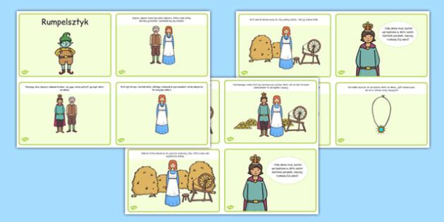 Rumpelsztyk po polsku (format 4 na A4) - baśnie, bajki, grimm