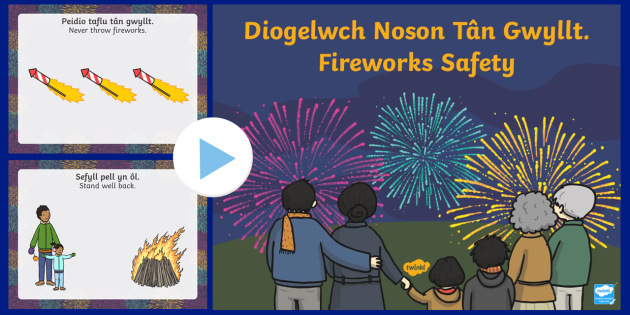 Fireworks Safety  PowerPoint-Welsh