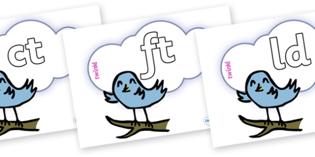 Final Letter Blends on Birds - Final Letters, final letter, letter blend, letter blends, consonant, consonants, digraph, trigraph, literacy, alphabet, letters, foundation stage literacy
