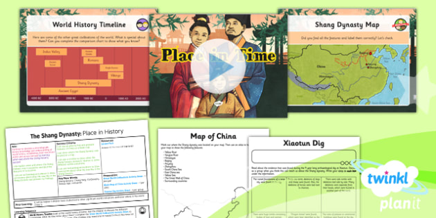 History: The Shang Dynasty: Place in Time UKS2 Lesson Pack 1