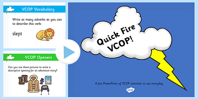 100 Quick VCOP Challenges PowerPoint - challenge, vcop, powerpoint