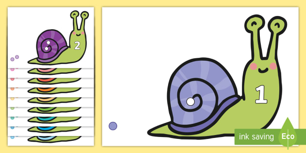 Snail Counting Activity to 10 - counting, snail, activity, 10