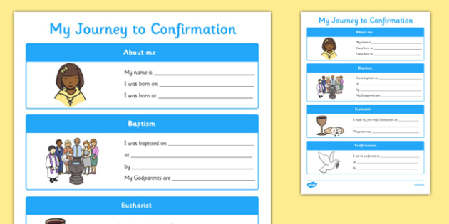 My Journey to Confirmation Activity Sheet-Irish, worksheet