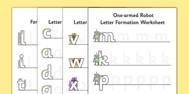 Letter Formation Worksheet Pack - letter formation, worksheet, pack