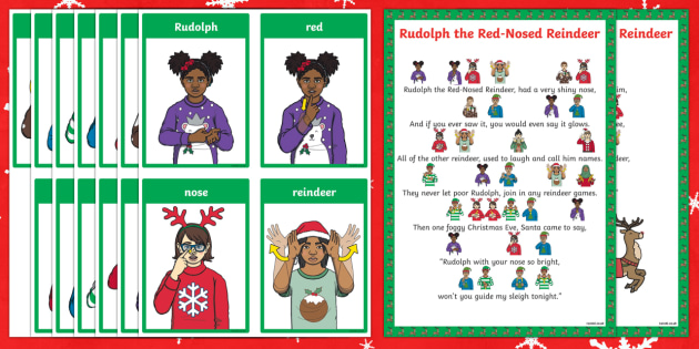 BSL Rudolph the Red-Nosed Reindeer Christmas Song Sheet