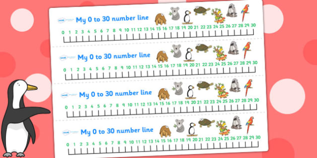 Number Lines 0-30 to Support Teaching on The Great Pet Sale - numbers, counting, count