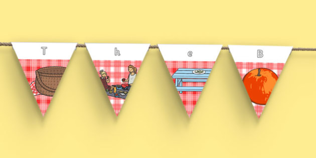 The Big Home Education Picnic Bunting with Text - the big home education picnic, event, home educators, bunting