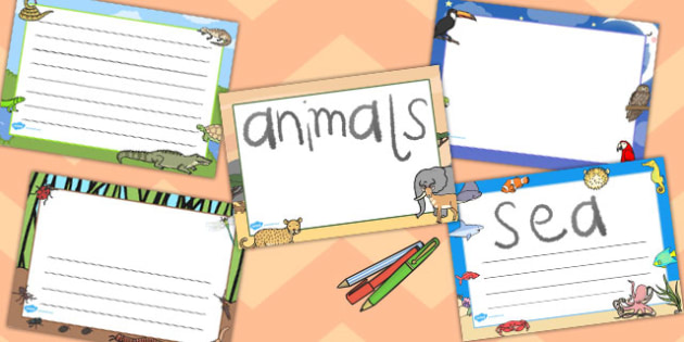 Animal Classes Page Borders Landscape - page borders, animal
