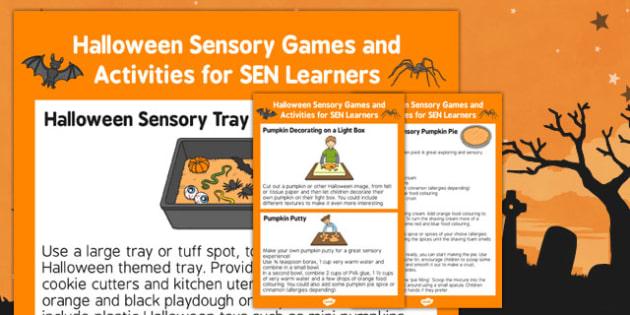 Halloween Sensory Games and Activities for SEN Learners - halloween, sensory games, activities