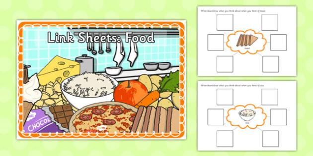 Link Sheets: Food - link, sheets, sen, food, label, describe