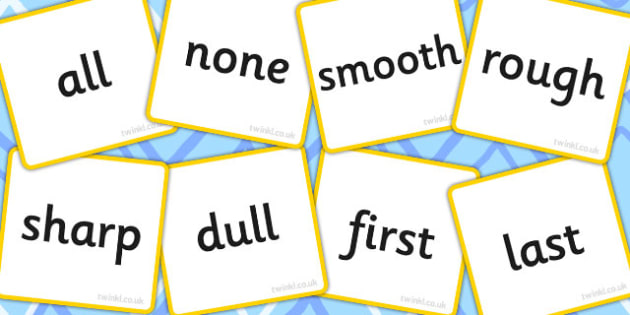 Basic Concepts Word Cards Set Two - concepts, visual aid, SEN