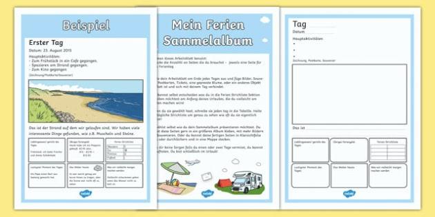 Mein Ferien Sammelalbum - german, holiday, scrapbook, diary, scrap book, book