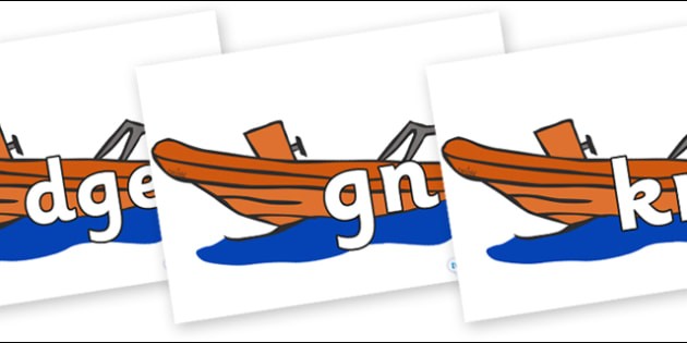Silent Letters on Lifeboats - Silent Letters, silent letter, letter blend, consonant, consonants, digraph, trigraph, A-Z letters, literacy, alphabet, letters, alternative sounds