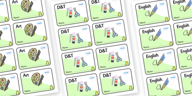 Frog Themed Editable Book Labels - Themed Book label, label, subject labels, exercise book, workbook labels, textbook labels