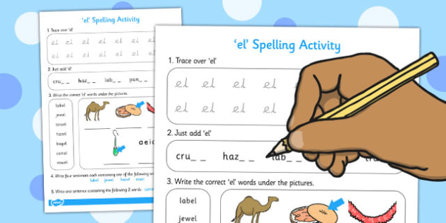 el Spelling Activity - spelling activity, el, activity, spelling