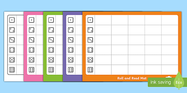 Editable Roll and Read Mat Template - phonics, KS1 Phonics, EYFS phonics, Early Years Phonics, Phonics game, Phonics games, reading