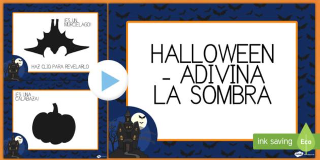 Presentación de Halloween ¡Adivina la sombra!